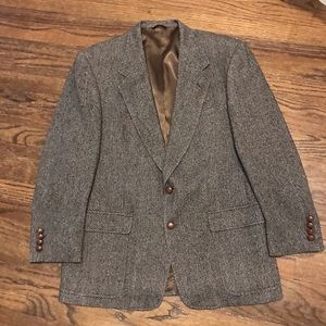 Hart Schaffner & Marx herringbone wool blazer